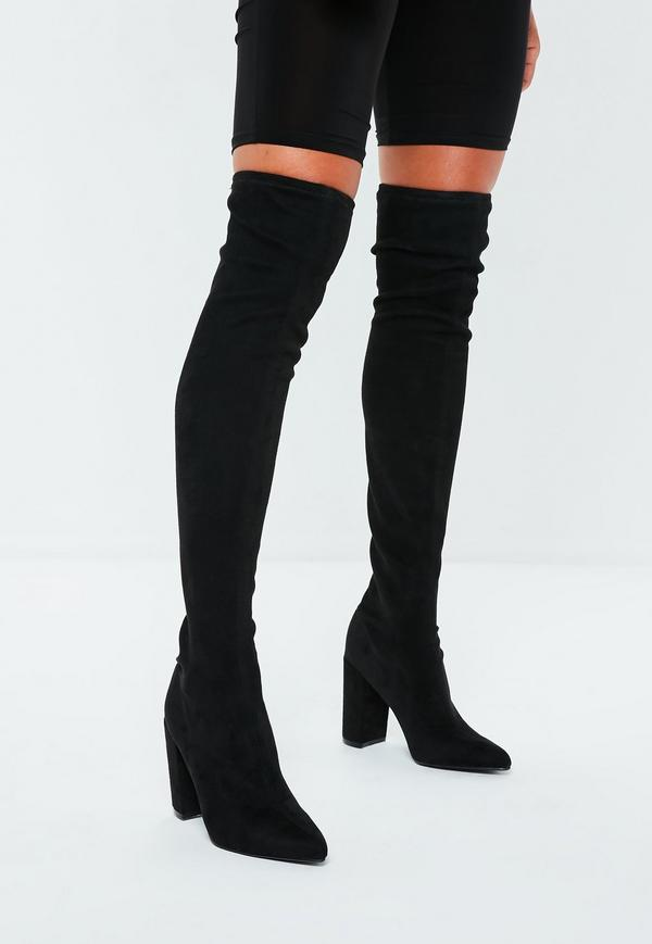94c9711126 black-faux-suede-over-the-knee-boots – Pleasantly Disturbed